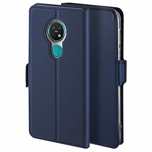 YATWIN Handyhülle für Nokia 7.2 Hülle, für Nokia 6.2 Schutzhülle Leder Premium Tasche Hülle, Schutzhüllen aus Klappetui mit Kreditkartenhaltern, Ständer, Magnetverschluss, Blau