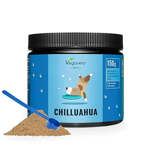 Relax Komplex für Hunde Vegavero® | 100{7369780fa173dc401b0ce58693dc3f1eab10243f9521a56ef4603b28efb73803} VEGANES Pulver | Mit Baldrian, Kamille, Ashwagandha, Johanniskraut, L-Theanin, Magnesium & Vitamin B1 | Beruhigung für Hunde | Ohne künstliche Zusätze