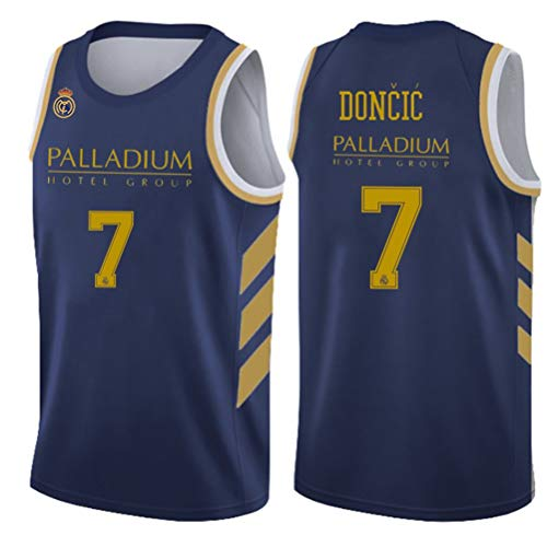 Luka Doncic Jersey # 7 del Baloncesto de los Hombres, de Entrenamiento Real Madrid Partido Transpirable y de rápido Secado Alero Jerseys (Color : 1, Size : L)