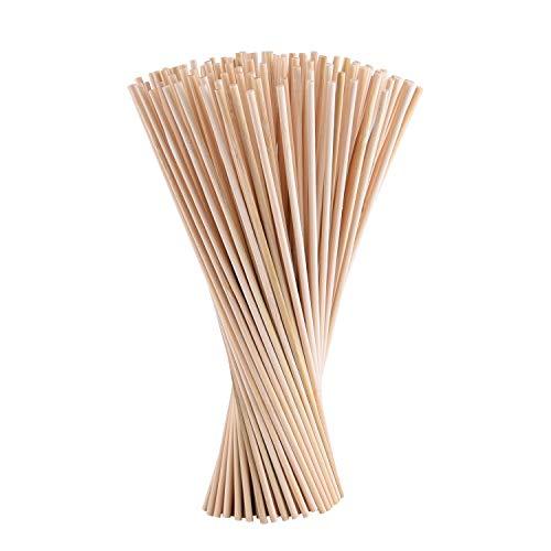 TUPARKA 150 Paket natürliche 30 cm Lange bambusdübel stangen runde Handwerk holzstäbchen für DIY Handwerk (3 * 200mm)