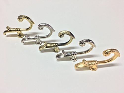 Gordijnroede van gesatineerd staal, glanzend, goudkleurig, gesatineerd, voor gordijnen en gordijnen voor thuis, gemaakt in Italië.