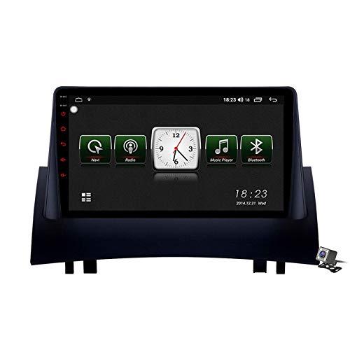 Android 10.0 Car Stereo, Radio compatible con Renault Megane 2 2002-2009 Navegación GPS Unidad principal de 9 pulgadas Reproductor multimedia MP5 Receptor de video con 4G / 5G WIFI DSP RDS FM Carplay
