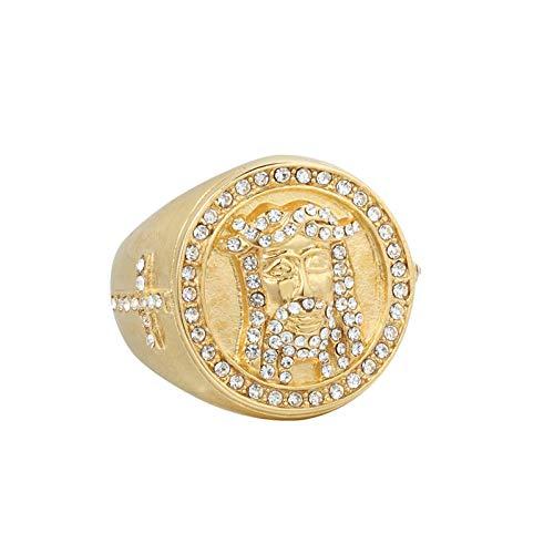 Ubestlove Weihnachtsring Kerzen Drachenkopf Rubin Ewigkeitsringe Bandring Edelstahl Gold 54