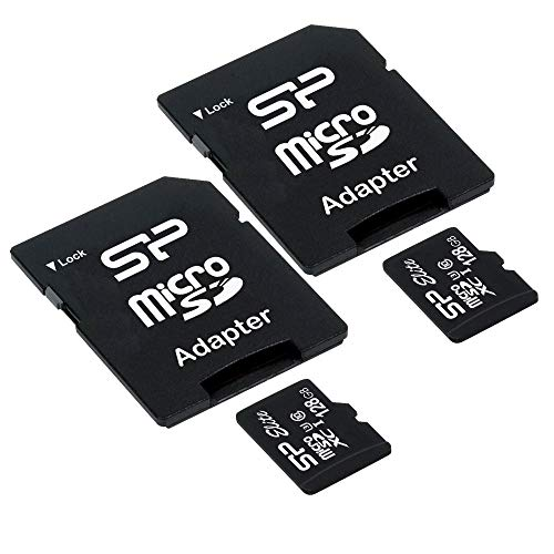Silicon Power Elite 128GB 2-Pack MicroSD Card with Adapter