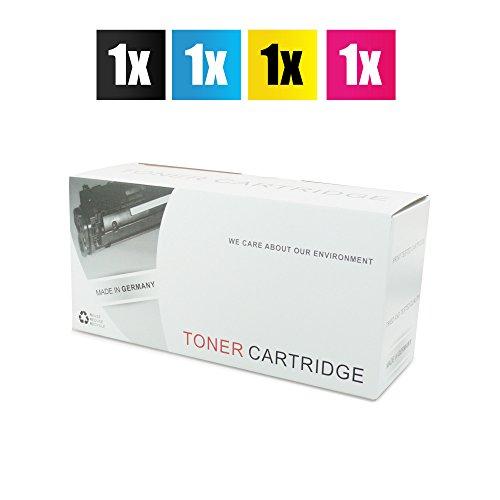 4X No Name Toner Set remanufactured für HP Color Laserjet 1600 2600 2605 + cm 1015 1017 – Alternative ersetzt HP Q6000A Black, Q6001A Cyan, Q6002A Magenta, Q6003A Yellow