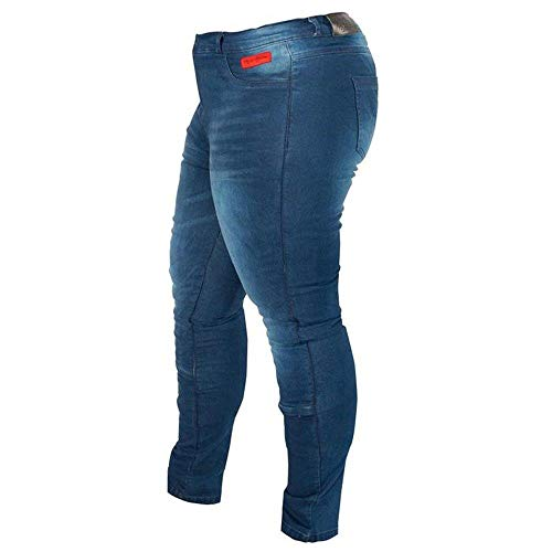 Rusty Stitches Super Ella Damen Motorradjeans Blau 46
