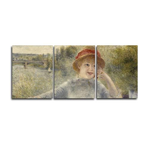 sjkkad Vrouw van Monet muurschildering poster en druk canvas schilderij kalligrafie decoratie voor woonkamer wooncultuur -50x70 cm Geen lijst