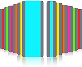 12 Pieces Guided Reading Highlight Strips with 2 Sizes Colored Overlay Highlight Bookmarks for Children and Teacher Supply Guided(6 Standard Size and 6 Large Size)