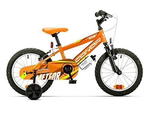 Conor Meteor 16' Bicicleta Ciclismo Infantil, Juventud Unisex, Naranja (Naranja), Talla Única
