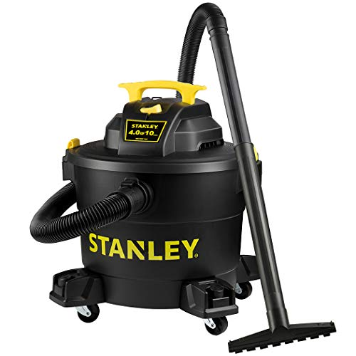Stanley Wet/Dry Vacuum SL18191P, 10 Gallon 4 Horsepower 16 FT Clean Range Shop Vacuum, Ideal for Home/Garage/Laundry Rooms with Vacuum Attachments, Strong Suction Large Capacity Multiple Accessories