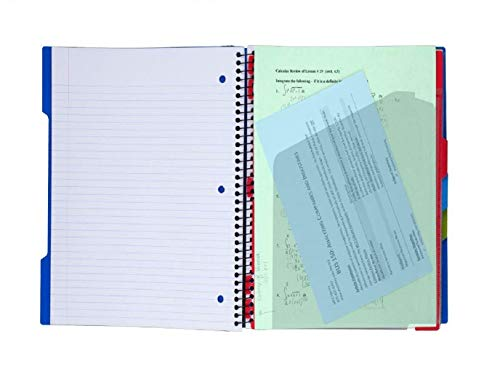 "Five Star Advance Spiral Notebook, 3 Subject, College Ruled Paper, 150 Sheets, 11"" x 8-1/2"", White (73142) Photo #4"