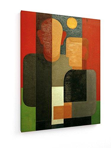Heinrich Hoerle - Seiwert und Ich - 75x100 cm - Leinwandbild auf Keilrahmen - Wand-Bild - Kunst, Gemälde, Foto, Bild auf Leinwand - Alte Meister/Museum