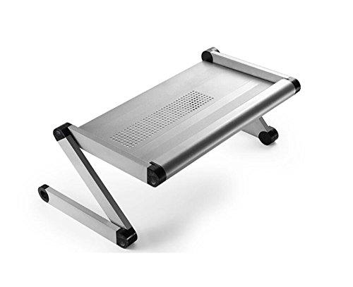 sknonr Bureau d'ordinateur, Bureau réglable de lit d'ordinateur Portable de Taille Support d'ordinateur Portable antidérapant Suppor de Plateau métallique portatif (Color : Silver)
