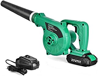 Cordless Leaf Blower – KIMO 20V Lithium 2-in-1 Sweeper/Vacuum 2.0 AH Battery for..