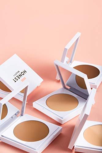 Honest Beauty Everything Cream Foundation, Shell | Demi-Matte, Lightweight, Medium-to-Full Coverage | Talc Free, Dermatologist Tested, Cruelty Free | 0.31 oz.