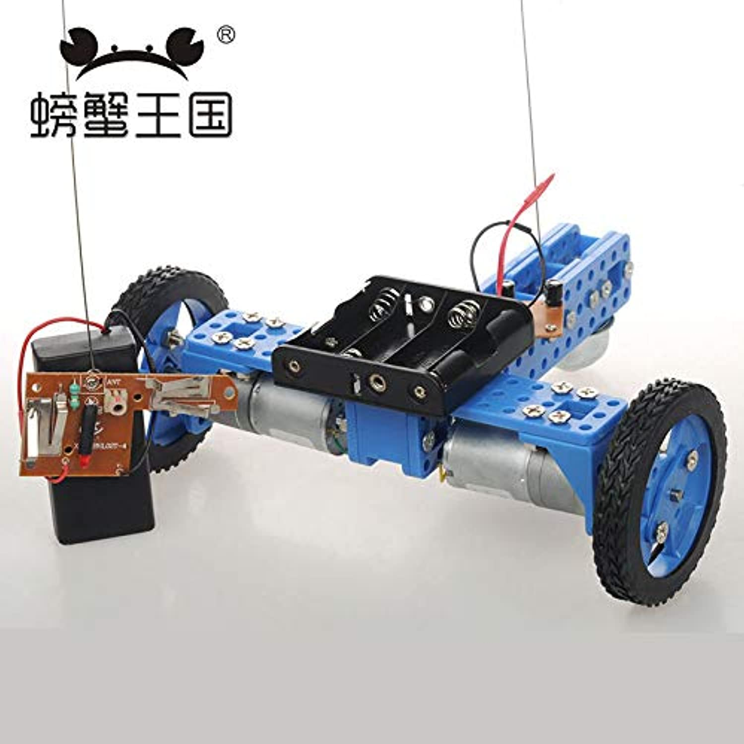 Generic PW M20 DIY Mini RC Car with Remote Controller Universal Wheel Technology Invention Funny Puzzle Education KD Car Toy