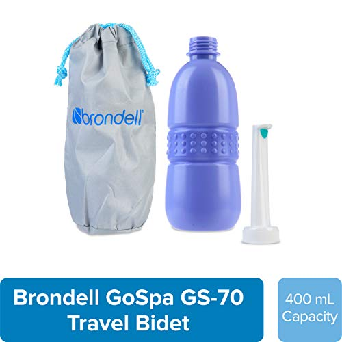 Brondell GoSpa Travel Bidet GS-70 Easy-to-use Portable Bidet with Convenient Nozzle Storage, Travel...