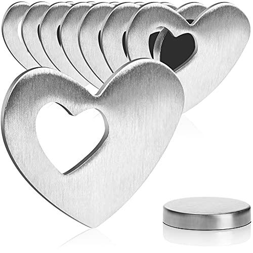 com-four® 8X Tischdeckenbeschwerer - Tischtuchgewichte aus Edelstahl - magnetische Tischtuchklammer - ca. 45 g