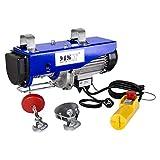 MSW Paranco Argano Verricello Elettrico PROLIFTOR 400 (400 kg, 950 W, Cavo di acciaio 12 m, Resistenza del cavo 1.100 kg)