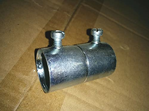 10 Pcs of Steel EMT Set Screw Type Couplings 2