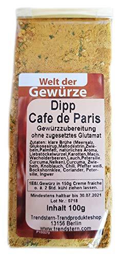 Gewürz Gewürzmischung Dipp Cafe de Paris 100 g OHNE Glutamat Brotaufstrich Kräuterbutter