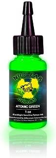MOM'S Nuclear UV Blacklight Colors Tattoo Ink - Atomic Green UV Blacklight Ink - 1/2oz
