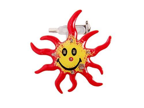 Alsino Blinki LED | Anstecker Blinky | Pin Button Blinkies | leichtes anstecken mit Nadel & Batterien | 24 Stunden Blinkpower Sonne 69