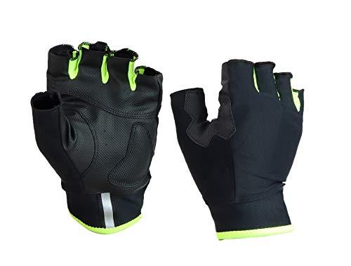 Guantes de verano de ciclismo negros de tejido técnico para bicicleta de carretera – Accesorios de ropa para bicicleta para hombre mujer niño (amarillo, L)