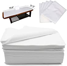 CAPRIER Disposable Bed Sheets 30PCS - Disposable Massage Table Sheets, Large Spa Bed Cover 100 PP+PE Non Woven Fabric Oil-Waterproof, 31,5
