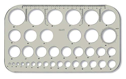 Koh-I-NOOR 074916100000Kreis Vorlage–Transparent Braun