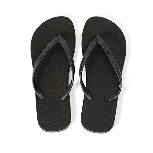 HXXBY Sandalias caseras de Chanclas Unisex Zapatos de Playa (Color : Negro, tamaño : 44)