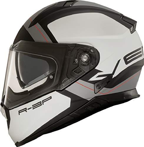 Vemar Zephir Mars Motorradhelm Weiß/Silber L