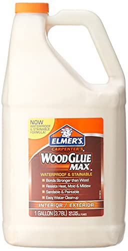 Elmer's E7330 Carpenter's Wood Glue Max, 1 Gallon, Tan