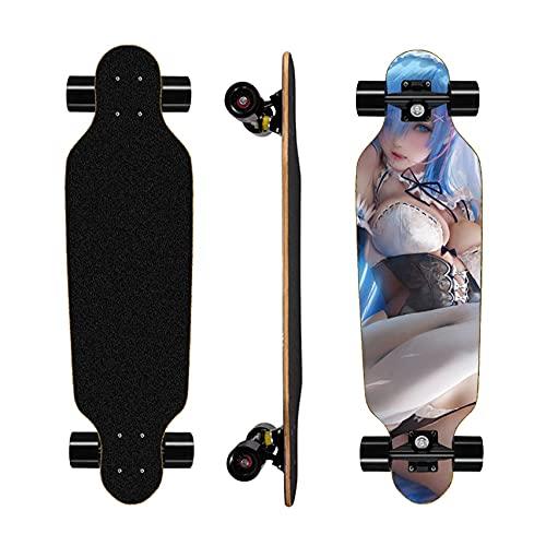 LaoSong Anime Skateboards-komplette Skateboards REM Anfängerstarter - Standard-Skateboards 31