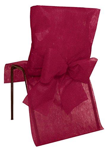 10 Housses de chaise Bordeaux - taille - Taille Unique - 212668