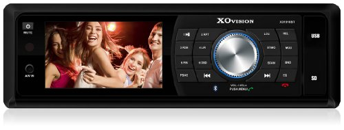 xo vision bluetooth audio receivers XO Vision XO1918BT 3-Inch Widescreen DVD Receiver with Bluetooth