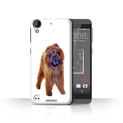 Hülle Für HTC Desire 630 H&/H&e Chow-Chow Design Transparent Ultra Dünn Klar Hart Schutz Handyhülle Hülle