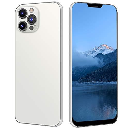 Smartphone Desbloqueado con Pantalla Táctil 6.26 Pulgadas, Desbloqueo Facial | Modo Espera Tarjeta Dual | 1+8GB | 480x1014 Resolución | 2G+3G | 2400 MAh, Teléfono Móvil con Carcasa(Blanco)