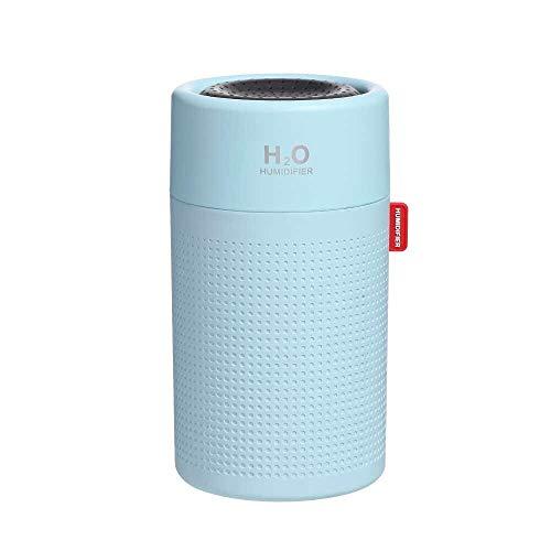 SKVVIDY Humidificador 750 ml 2000mAh humidificador Recargable inalámbrico portátil ultrasónico USB Aroma al Aire difusor de Aire Bastante Pesado humidificador Humidificador Coche (Color : Blue)