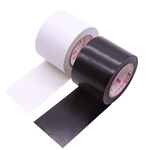 Maveek Elektronik-Isolierband, 50 mm x 15 m, aus Silikon, wasserdicht, 2 Rollen, schwarz und weiß