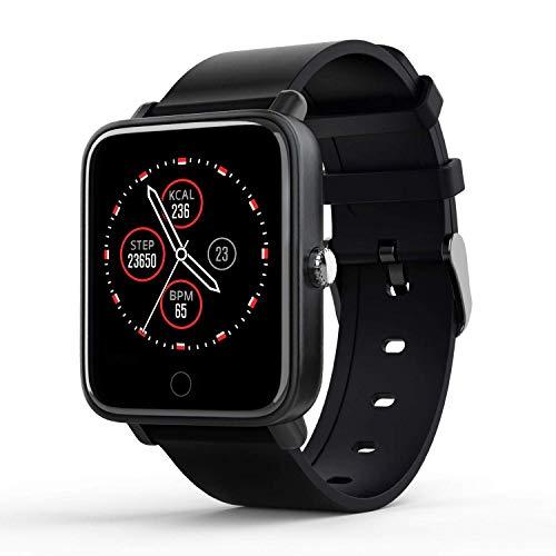 LIDOFIGO Smart Watch Fitness Uhr mit Pulsuhren IP67 Wasserdicht Fitness Armbanduhr Aktivitätstracker Schlaftracker Sportuhr mit Schrittzähler Uhr Smartwatch Herren Damen für iOS Android Handy
