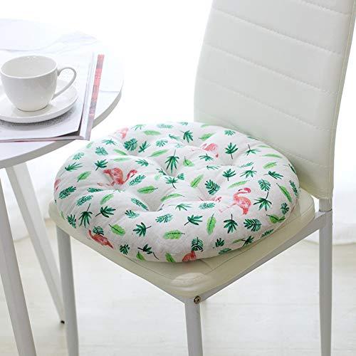 Runden Verdicken Sie Stuhlauflage, Weich Sitzkissen Pad Atmungsaktive Gemütlich Tatami Matte Drinnen Draussen Für Garten Home Bürostuhl-t Durchmesser 55cm(22inch)