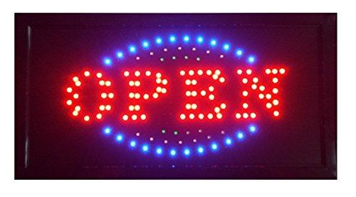 LED Schild Open geöffnet Curry Wurst Döner/Kebap Kaffee Nails Bar Leuchtreklame Display Werbung NEU!!! (Open E)