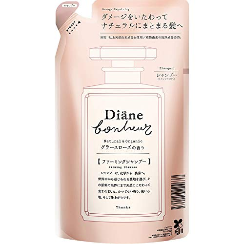 Moist Diane Bonheur Hair Shampoo 400ml - Grasse Rose - Refill (Green Tea Set)