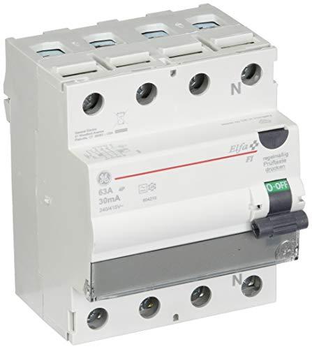 GE Fehlerstromschutzschalter 63A, 4-polig, 30mA , 604.210