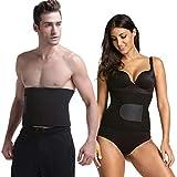 Wearslim Professional Updated Sweat Waist Belt   Belly Tummy Yoga Wrap Black Exercise