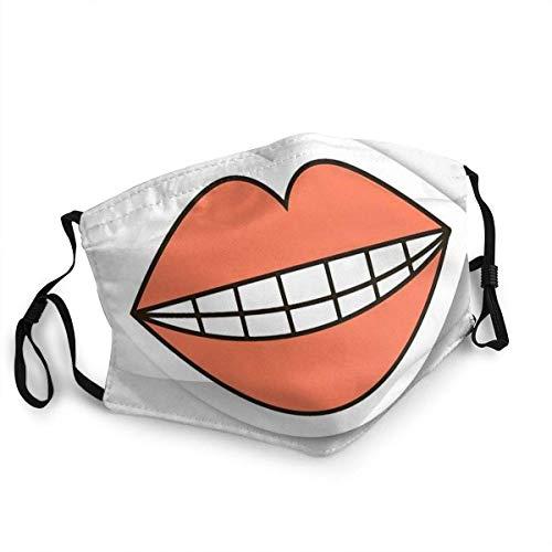 Cubierta ajustable para niños al aire libre, labios rojos, lavable, antipolvo, cubierta facial con filtro para hombres, adolescentes, niñas, 5 unidades
