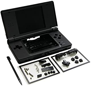 OSTENT Full Repair Parts Replacement Housing Shell Case Kit Compatible for Nintendo DS Lite NDSL Color Black