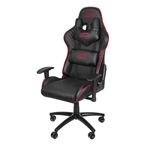 Speedlink ZAYNE Gaming Chair - voor gaming geoptimaliseerde bureaustoel - synthetisch leer, zwart-rood