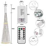 Lichterkette, Queta LED Feuerwerk Lichtkette wasserdicht Weihnachtslichterkette mit Batteriebetrieben Fernbedienung (120 Lampenperlen, Ohne Batterien) - 2
